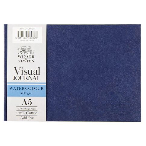Winsor & Newton Watercolour Visual Journal Hard 300gsm A5 20 Sheets Blue