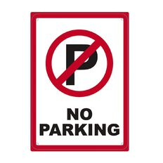 Impact Safety Sign No Parking Red&Black Single Small