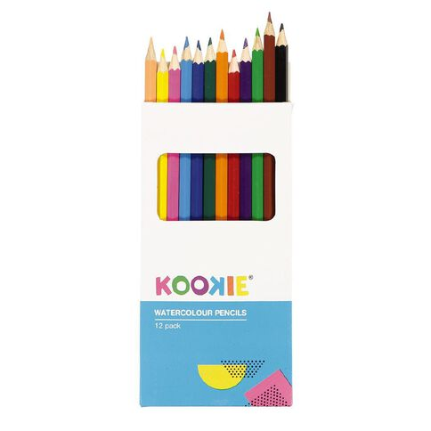 Kookie Watercolour Pencils Multi-Coloured 12 Pack