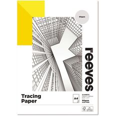 Reeves Tracing Pad 90gsm 25 Sheets A4