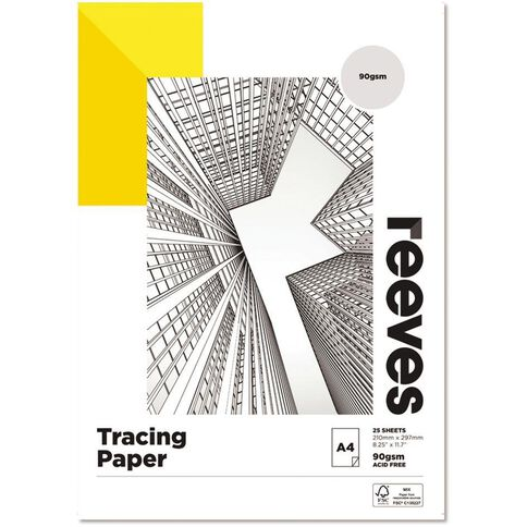 Reeves Tracing Pad 90gsm A4