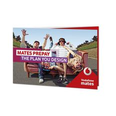 Vodafone Prepay Mates Triple Sim Red