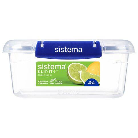 Sistema Klip It Plus Rectangular Container Blue 1L