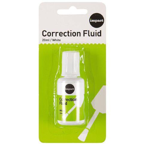 Impact Correction Fluid 20ml White