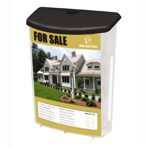Deflecto Brochure Holder Outdoor With Lid