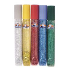 Elmer's Glitter Glue Pens Assorted Multi-Coloured 5 Pack
