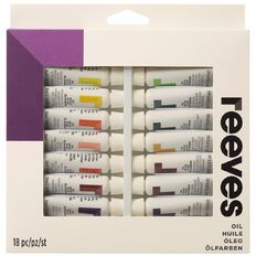 Reeves Oil Paint Set 18 Tubes Multi-Coloured