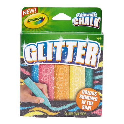 Crayola Sidewalk Chalk Glitter 5 Pack
