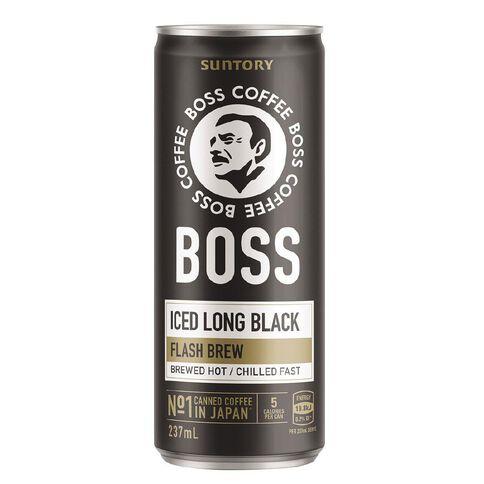 BOSS Coffee Iced Long Black 237ml