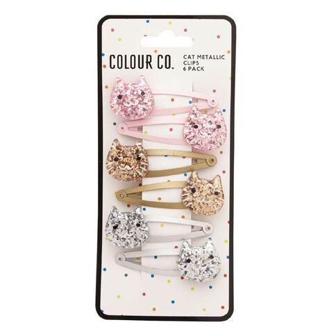 Colour Co. Cat Metallic Clips 6 Pack