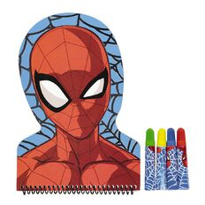 Spider-Man Shaped Notebook With Markers