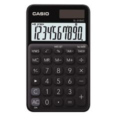 Casio SL310UCBK Hand Held 10 Digit Calculator Black