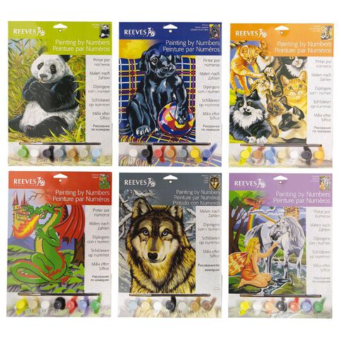 Reeves Paint By Numbers Medium Assorted