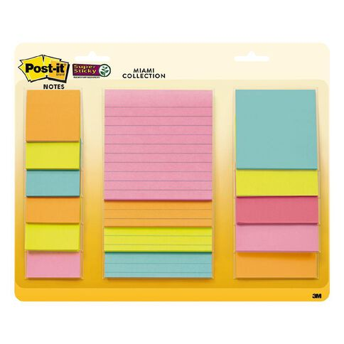 Post-It Super Sticky Miami Combo Pack