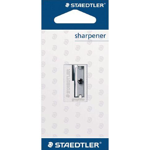 Staedtler Metal Single Hole Sharpener Silver Grey Standard