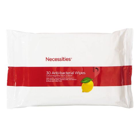 Necessities Brand Anti Bacterial Wipes 30s
