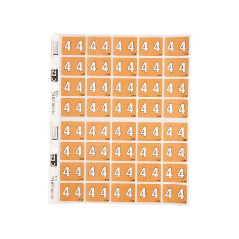 Filecorp Coloured Labels 4 Orange