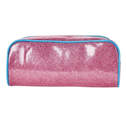 Impact Pencil Case Tube Glitter Pink