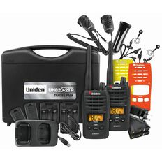 Uniden Uh820S-2Tp Twin Tradies Pack Radio Black