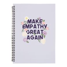 Uniti Blossom Spiral Notebook Purple A4