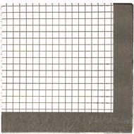 Party Inc Black & White Grid Napkins 3ply 33cm 20 Pack