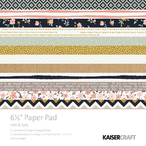 Kaisercraft Hide and Seek 6.5 inch Paper Pad