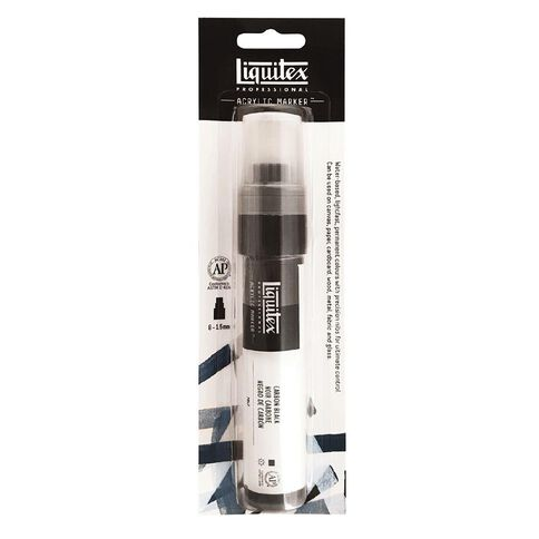 Liquitex Professional Acrylic Marker 15mm Carbon Black 0337