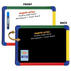 Writeraze Magnetic Rainbow Whiteboard/Blackboard White A3