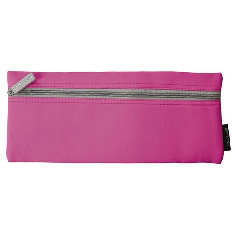 Pink Large Flat Pencil Case