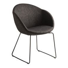 Eden Amelia Black Sled Visitor Chair Anthracite
