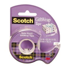 Scotch Giftwrap Tape 19mm x 16.5m Clear