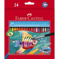 Faber-Castell Coloured Pencils  Watercolour Full 24 Pack