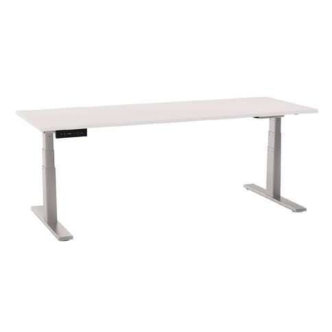 Chair Solutions Ascend Height Adjustable Electric Desk White/Silver 1800