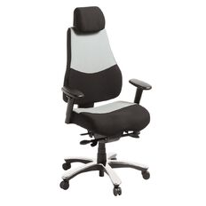 Eden Control Heavy Duty Chair Grey/Black with Arms