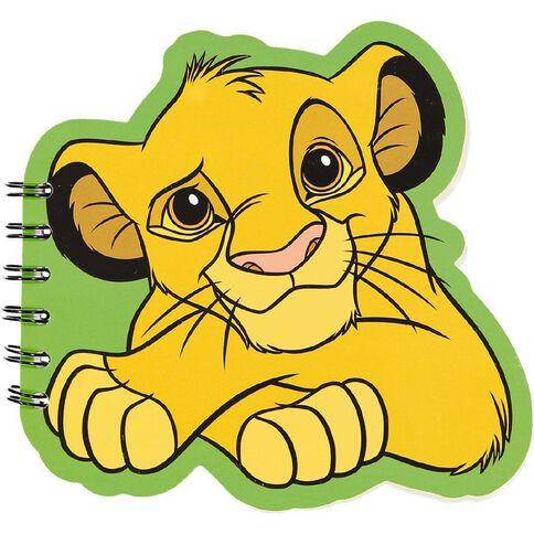 Disney Classics Simba Shaped Notepad A6