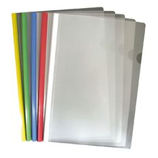 Office Supply Co Report Cover With Colour Spines 5 Pack Assorted A4
