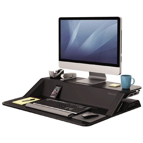 Fellowes Lotus Sit Stand Desk Black
