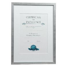 Certificate Frame A3 Brushed Silver