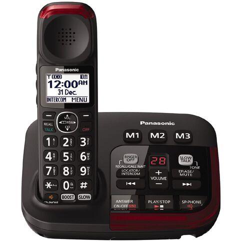 Panasonic KX-TGM420AZB Single Cordless Handset Black Black