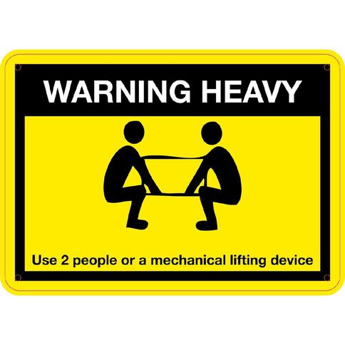 WS Warning Heavy Use 2 People Small 240mm x 340mm