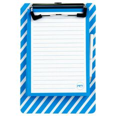 Paper Lane Magnetic Mini Clipboard & Notepad Blue A6