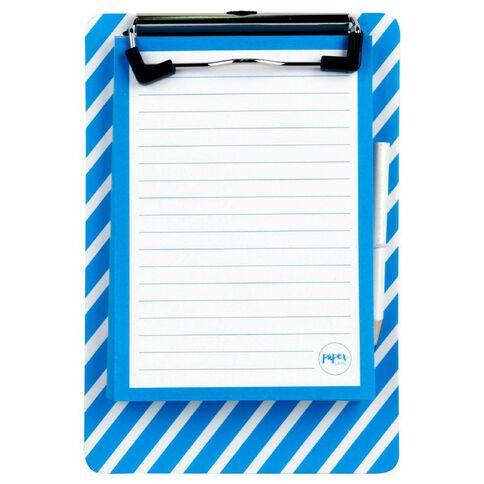 Paper Lane Magnetic Mini Clipboard & Notepad Blue A6