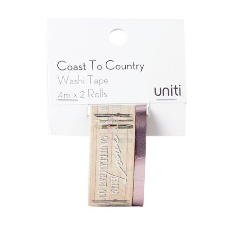Uniti Coast to Country Washi Tape 2 pack Design 2