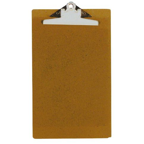 GBP Stationery Foolscap Hardboard Clipboard Brown