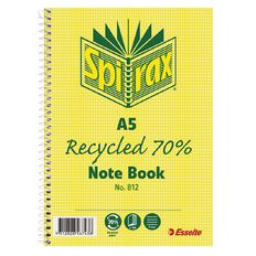 Spirax 812 Recycled Notebook 120 Page A5