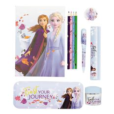 Frozen 2 Large Tin Stationery Set 10 Pieces