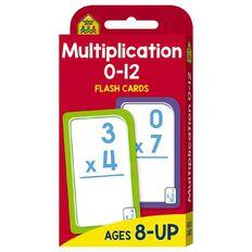 Hinkler School Zone Multiplication 0-12 Flash Cards