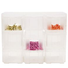 Uniti Plastic Storage Box with 9 Compartments