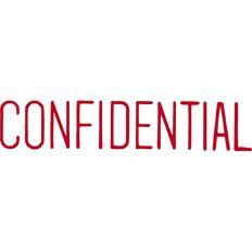 Xstamper Stamp Confidential Red