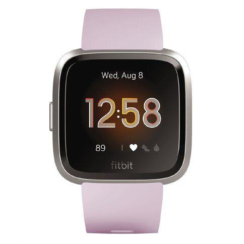 Fitbit Versa Lite Lilac Silver Aluminum